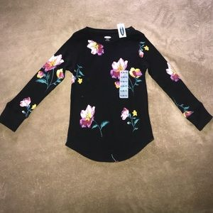 Old Navy Thermal style with Floral design NWT